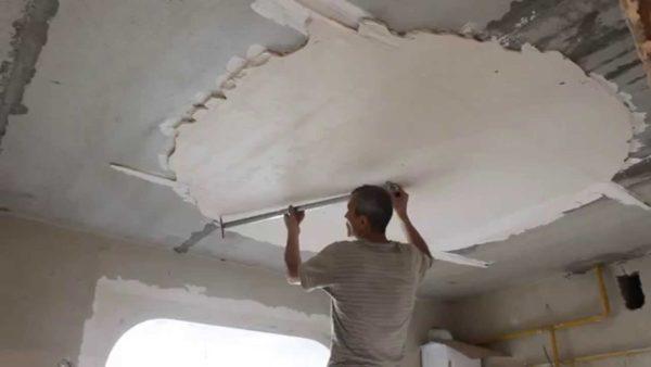 Наращивание и выравнивание потолка для дизайнерского решения