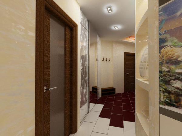 Выбор напольного покрытия для увеличения пространства в прихожей