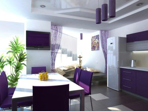 Фиолетовый цвет - самый актуальный цвет в интерьере на сегодняшний день