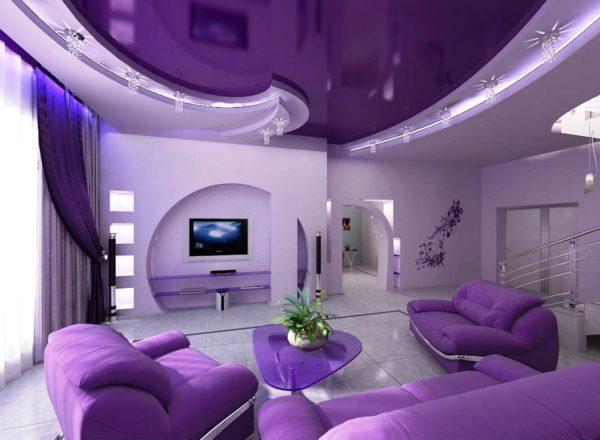 Фиолетовый цвет тоже находит свое применение