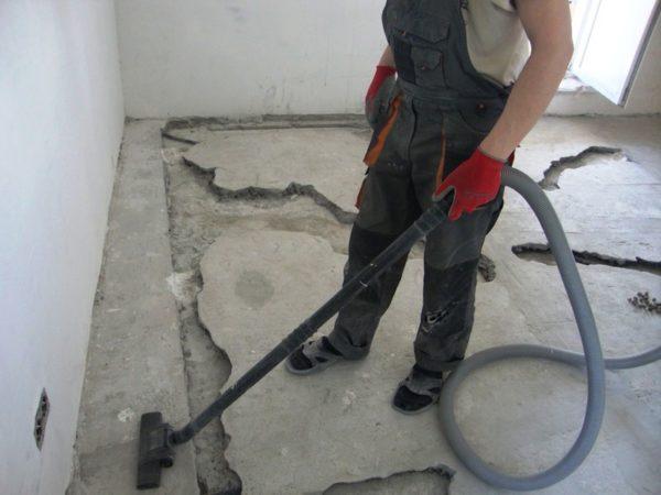 Подготовка бетона к ремонту
