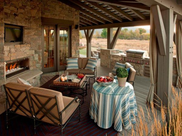 мебель для отдыха на террасе