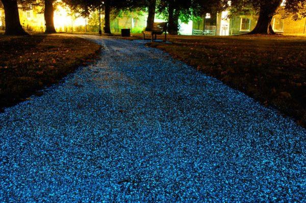 Флуоресцентные покрытия на тротуара