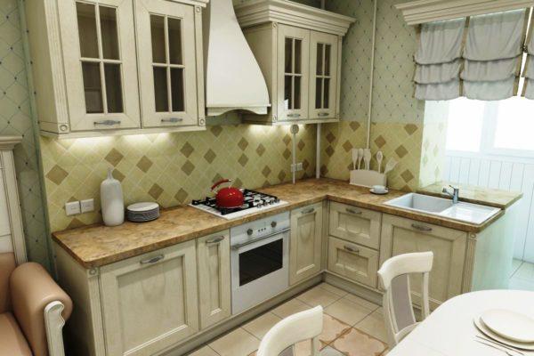 Классический кухонный гарнитур в стиле прованс