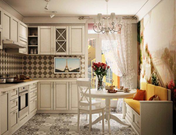 Кухня в стиле прованс предполагает использование натуральных материалов в мебели и других деталях интерьера
