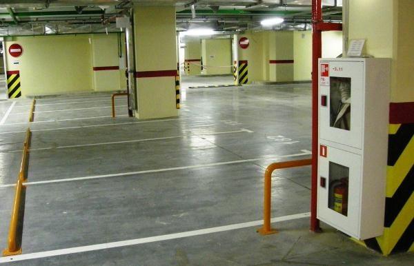 противопожарное обустройство на паркинге