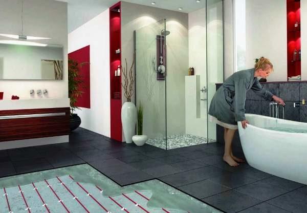 Технология теплый пол в ванной для обустройства