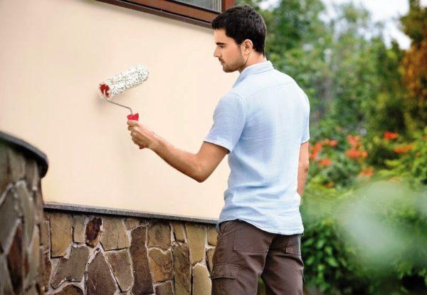 Окрашивание зданий сухими красками