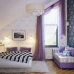 purple-curtains-for-girls-bedroom