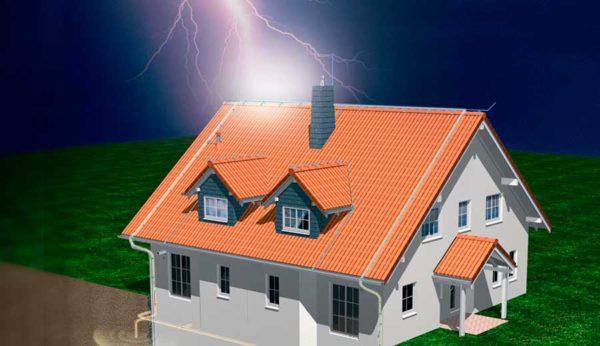 Как сделать молниезащиту частного дома