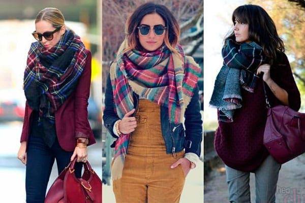 Женский шарф палантин