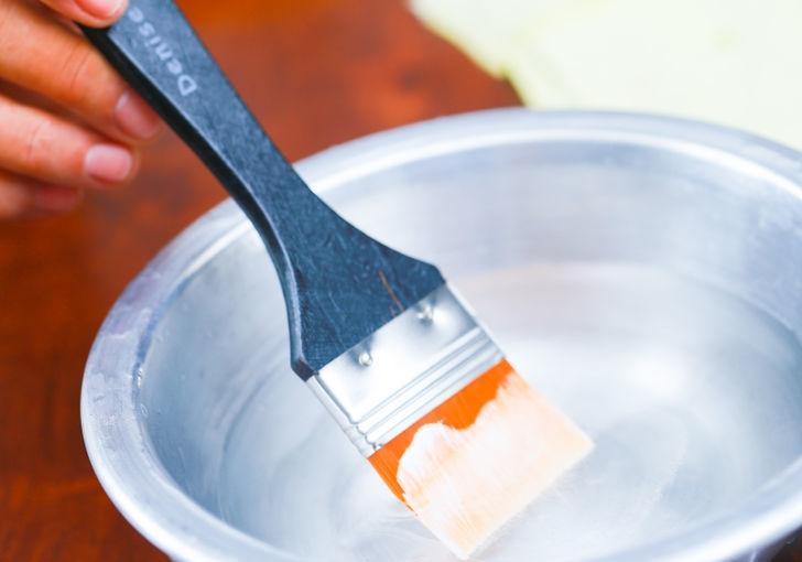 Как очистить малярную кисть от краски