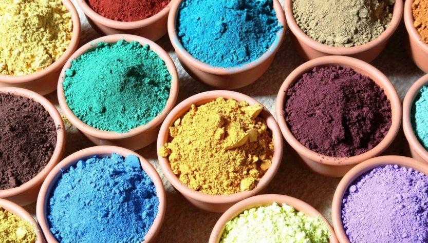 Сухие краски и пигменты
