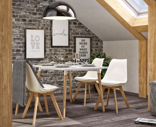 Деревянные дизайнерские стулья для скандинавского стиля интерьера